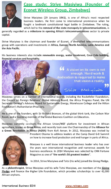 Strive Masiyiwa. Zimbabwean Businessman (Master, Zimbabwe) Econet Wireless Group