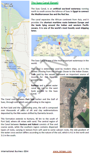 Suez Canal (Egypt, Logistics Course)