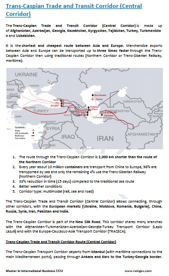 Trans-Caspian Trade and Transit Corridor (China, Kazakhstan, Kyrgyzstan, Uzbekistan, Tajikistan, Turkmenistan, Iran and Turkey) Road Transportation Course