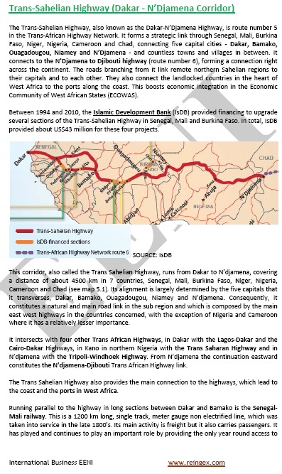 Trans-Sahelian Highway: Senegal, Mali, Burkina Faso, Niger, Nigeria, Cameroon, and Chad (Road Transport Course Master)