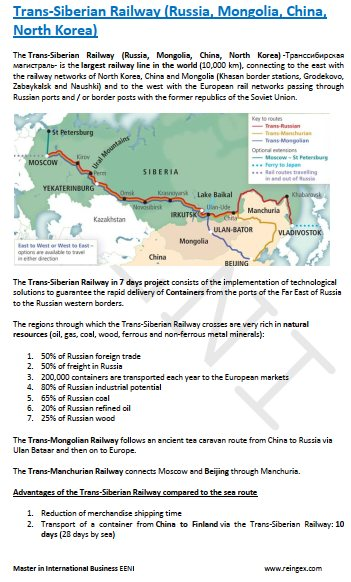 Trans-Siberian Railway (Russia, Mongolia, China, North Korea) Course