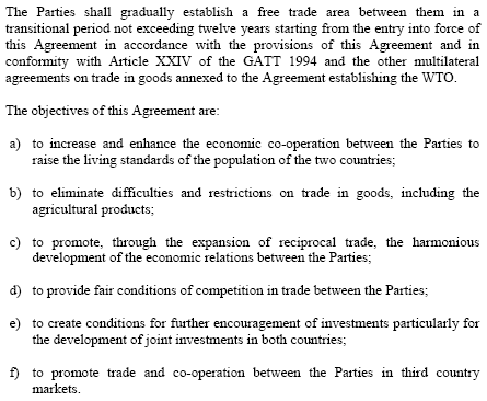 Morocco Turkey Free Trade Agreement