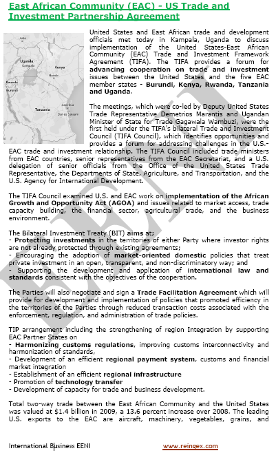 United States-East African Community Agreement