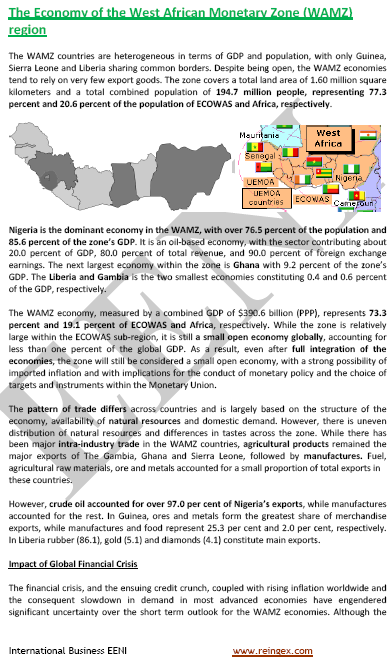 West African Monetary Zone (WAMZ, Course)